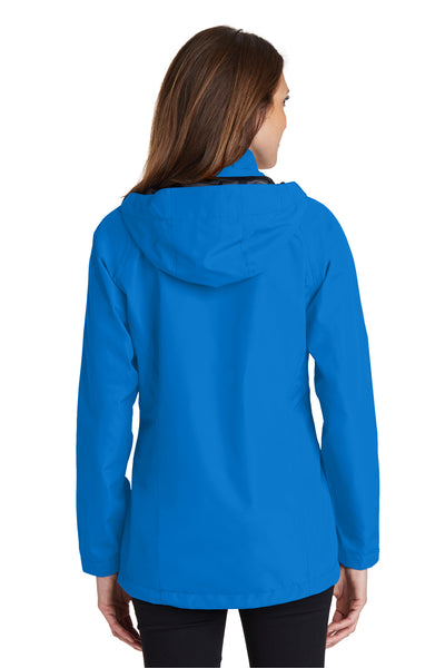Port Authority L333 Womens Torrent Waterproof Full Zip Hooded Jacket Direct Blue Back