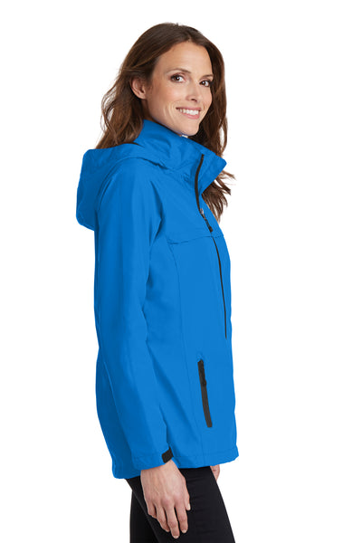 Port Authority L333 Womens Torrent Waterproof Full Zip Hooded Jacket Direct Blue Side