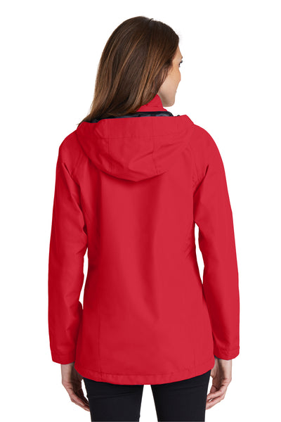 Port Authority L333 Womens Torrent Waterproof Full Zip Hooded Jacket Red Back