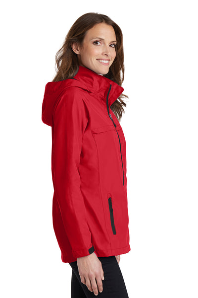 Port Authority L333 Womens Torrent Waterproof Full Zip Hooded Jacket Red Side