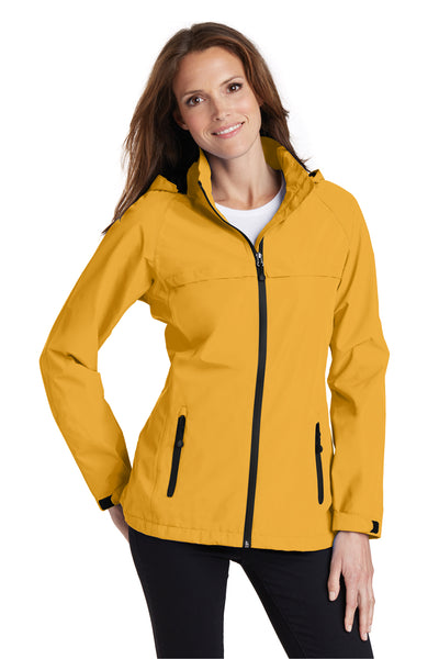 Port Authority L333 Womens Torrent Waterproof Full Zip Hooded Jacket Yellow Front