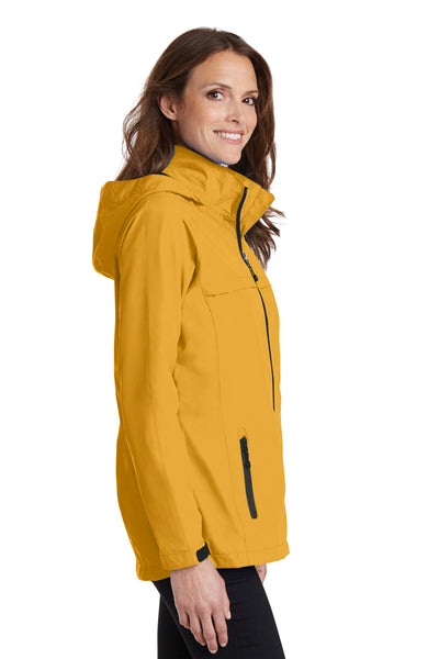 Port Authority L333 Womens Torrent Waterproof Full Zip Hooded Jacket Yellow Side