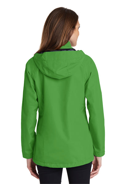 Port Authority L333 Womens Torrent Waterproof Full Zip Hooded Jacket Green Back
