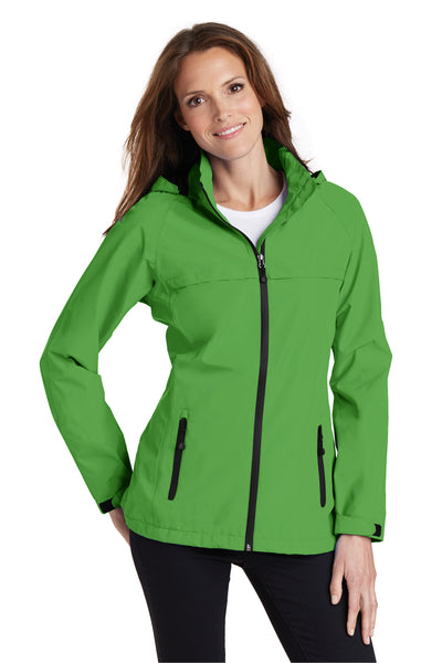 Port Authority L333 Womens Torrent Waterproof Full Zip Hooded Jacket Green Front