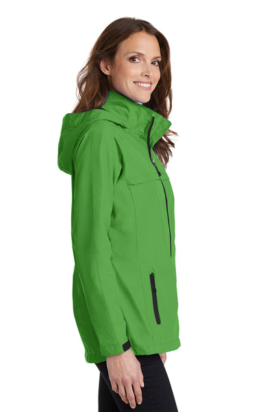 Port Authority L333 Womens Torrent Waterproof Full Zip Hooded Jacket Green Side