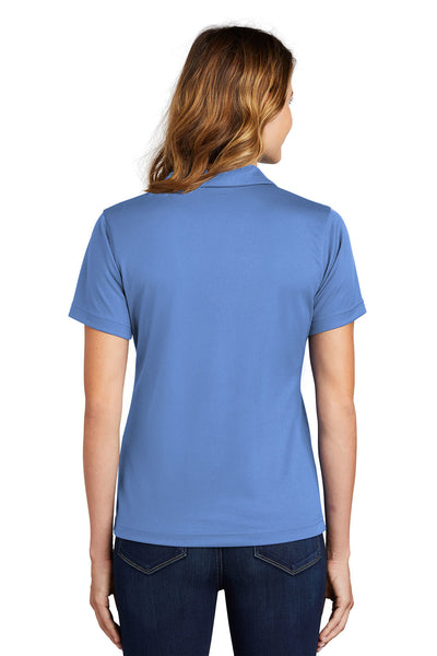 Sport-Tek L469 Womens Dri-Mesh Moisture Wicking Short Sleeve Polo Shirt Blueberry Back