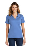 Sport-Tek L469 Womens Dri-Mesh Moisture Wicking Short Sleeve Polo Shirt Blueberry Front