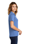 Sport-Tek L469 Womens Dri-Mesh Moisture Wicking Short Sleeve Polo Shirt Blueberry Side