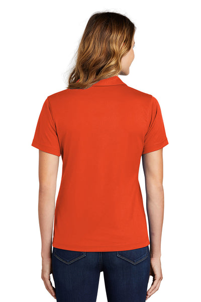 Sport-Tek L469 Womens Dri-Mesh Moisture Wicking Short Sleeve Polo Shirt Orange Back