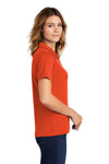 Sport-Tek L469 Womens Dri-Mesh Moisture Wicking Short Sleeve Polo Shirt Orange Side