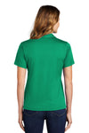 Sport-Tek L469 Womens Dri-Mesh Moisture Wicking Short Sleeve Polo Shirt Kelly Green Back