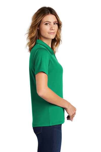 Sport-Tek L469 Womens Dri-Mesh Moisture Wicking Short Sleeve Polo Shirt Kelly Green Side