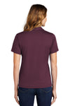 Sport-Tek L469 Womens Dri-Mesh Moisture Wicking Short Sleeve Polo Shirt Maroon Back