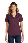 Sport-Tek L469 Womens Dri-Mesh Moisture Wicking Short Sleeve Polo Shirt Maroon Front