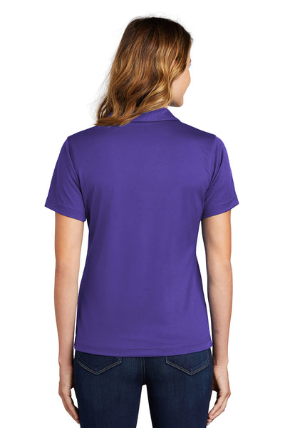 Sport-Tek L469 Womens Dri-Mesh Moisture Wicking Short Sleeve Polo Shirt Purple Back