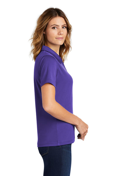 Sport-Tek L469 Womens Dri-Mesh Moisture Wicking Short Sleeve Polo Shirt Purple Side