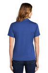 Sport-Tek L469 Womens Dri-Mesh Moisture Wicking Short Sleeve Polo Shirt Royal Blue Back