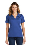 Sport-Tek L469 Womens Dri-Mesh Moisture Wicking Short Sleeve Polo Shirt Royal Blue Front