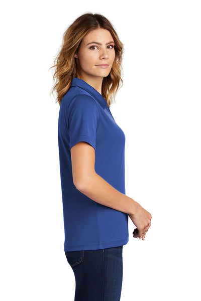 Sport-Tek L469 Womens Dri-Mesh Moisture Wicking Short Sleeve Polo Shirt Royal Blue Side