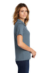 Sport-Tek L469 Womens Dri-Mesh Moisture Wicking Short Sleeve Polo Shirt Steel Grey Side