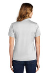 Sport-Tek L469 Womens Dri-Mesh Moisture Wicking Short Sleeve Polo Shirt White Back