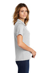 Sport-Tek L469 Womens Dri-Mesh Moisture Wicking Short Sleeve Polo Shirt White Side