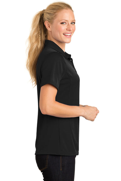 Sport-Tek L475 Womens Dry Zone Moisture Wicking Short Sleeve Polo Shirt Black Side
