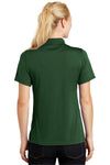 Sport-Tek L475 Womens Dry Zone Moisture Wicking Short Sleeve Polo Shirt Forest Green Back