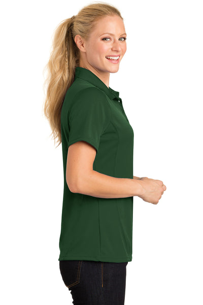 Sport-Tek L475 Womens Dry Zone Moisture Wicking Short Sleeve Polo Shirt Forest Green Side