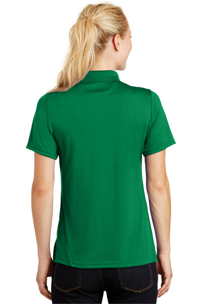 Sport-Tek L475 Womens Dry Zone Moisture Wicking Short Sleeve Polo Shirt Kelly Green Back