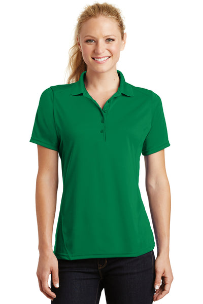 Sport-Tek L475 Womens Dry Zone Moisture Wicking Short Sleeve Polo Shirt Kelly Green Front