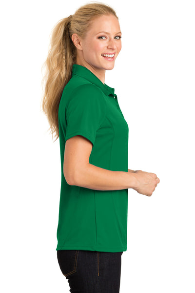Sport-Tek L475 Womens Dry Zone Moisture Wicking Short Sleeve Polo Shirt Kelly Green Side