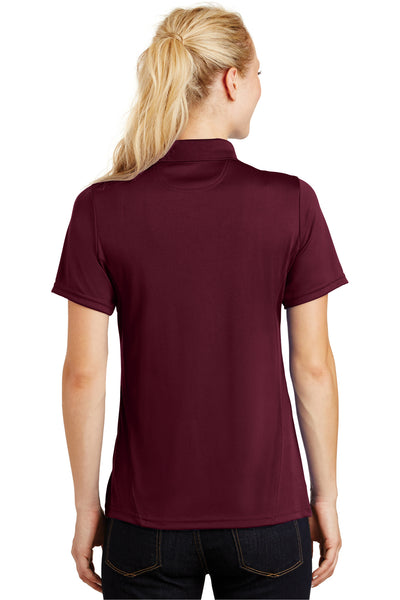 Sport-Tek L475 Womens Dry Zone Moisture Wicking Short Sleeve Polo Shirt Maroon Back