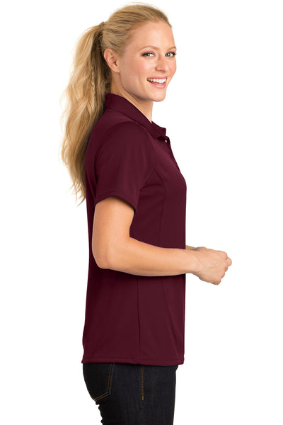 Sport-Tek L475 Womens Dry Zone Moisture Wicking Short Sleeve Polo Shirt Maroon Side
