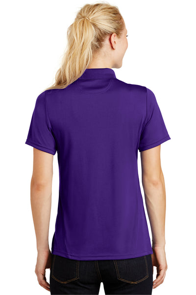 Sport-Tek L475 Womens Dry Zone Moisture Wicking Short Sleeve Polo Shirt Purple Back