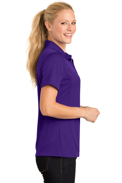 Sport-Tek L475 Womens Dry Zone Moisture Wicking Short Sleeve Polo Shirt Purple Side