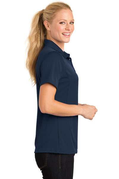 Sport-Tek L475 Womens Dry Zone Moisture Wicking Short Sleeve Polo Shirt Navy Blue Side