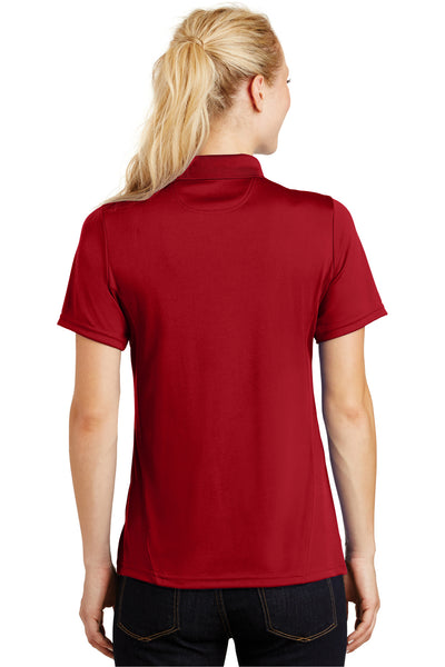 Sport-Tek L475 Womens Dry Zone Moisture Wicking Short Sleeve Polo Shirt Red Back