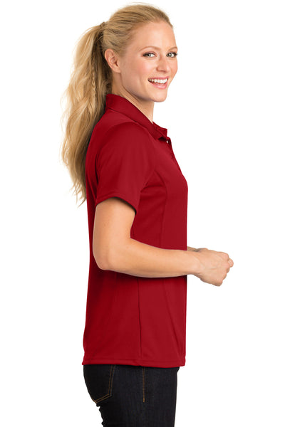 Sport-Tek L475 Womens Dry Zone Moisture Wicking Short Sleeve Polo Shirt Red Side