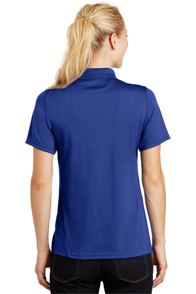 Sport-Tek L475 Womens Dry Zone Moisture Wicking Short Sleeve Polo Shirt Royal Blue Back