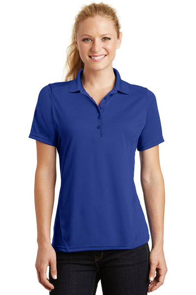 Sport-Tek L475 Womens Dry Zone Moisture Wicking Short Sleeve Polo Shirt Royal Blue Front