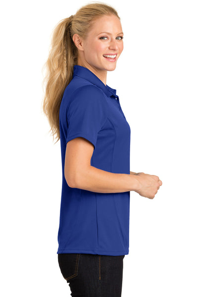 Sport-Tek L475 Womens Dry Zone Moisture Wicking Short Sleeve Polo Shirt Royal Blue Side