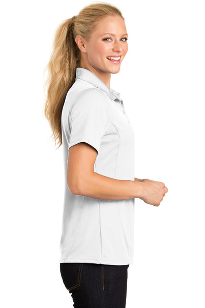 Sport-Tek L475 Womens Dry Zone Moisture Wicking Short Sleeve Polo Shirt White Side