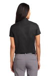 Port Authority L508 Womens Easy Care Wrinkle Resistant Short Sleeve Button Down Shirt Black Back