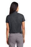 Port Authority L508 Womens Easy Care Wrinkle Resistant Short Sleeve Button Down Shirt Classic Navy Blue Back