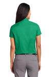 Port Authority L508 Womens Easy Care Wrinkle Resistant Short Sleeve Button Down Shirt Court Green Back