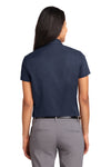 Port Authority L508 Womens Easy Care Wrinkle Resistant Short Sleeve Button Down Shirt Navy Blue Back