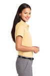Port Authority L508 Womens Easy Care Wrinkle Resistant Short Sleeve Button Down Shirt Yellow Side