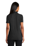 Port Authority L510 Womens Moisture Wicking Short Sleeve Polo Shirt Black Back