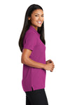 Port Authority L510 Womens Moisture Wicking Short Sleeve Polo Shirt Boysenberry Pink Side